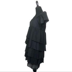 Prada Dresses - Prada Black Ruffle Tiered Prairie Dress